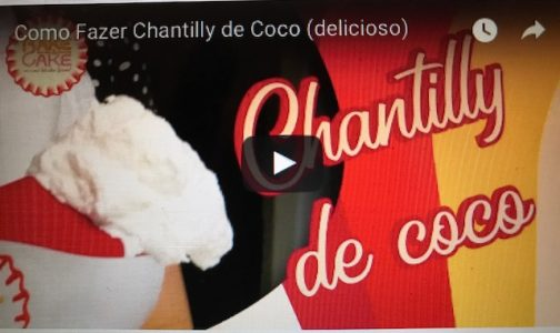 Chantilly de coco- Vegano, como fazer.